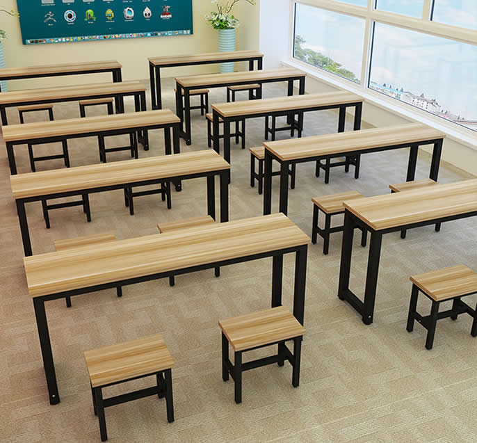 学生课桌椅(潜胡桃黑腿)